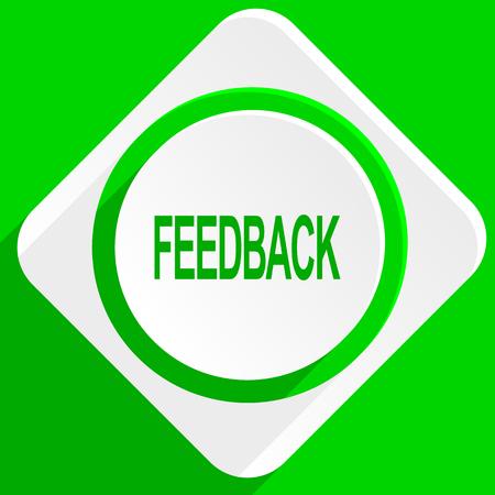 feedback: feedback green flat icon