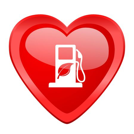 biofuel: biofuel red heart valentine glossy web icon