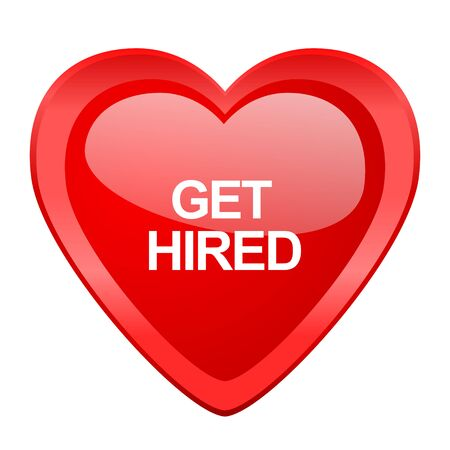 employ: get higreen red heart valentine glossy web icon