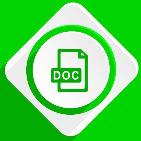 doc: doc file green flat icon
