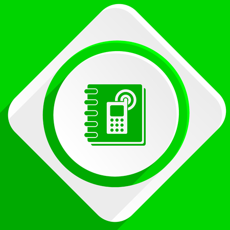 phonebook: phonebook green flat icon
