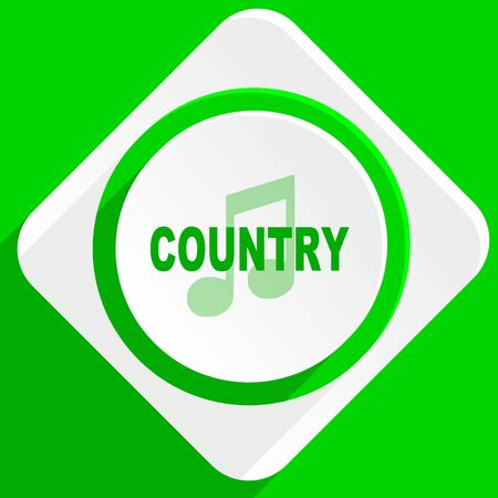 genre: music country green flat icon