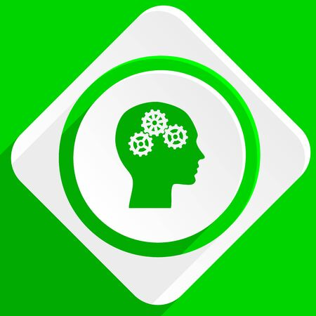 head green flat icon
