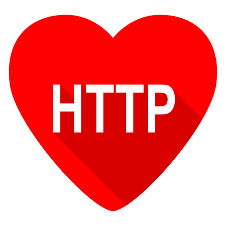http: http red heart valentine flat icon