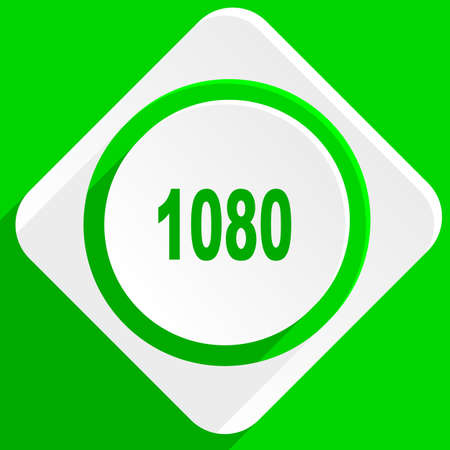 resolutions: 1080 green flat icon Stock Photo