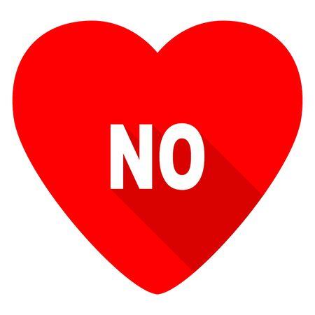 no red heart valentine flat icon
