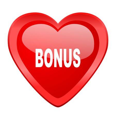 bonus: bonus red heart valentine glossy web icon