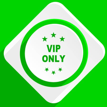 only: vip only green flat icon
