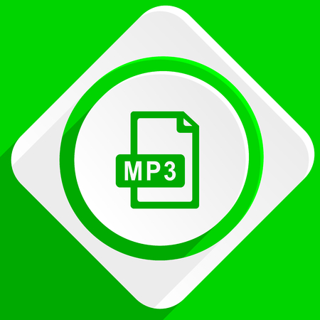 mp3: mp3 file green flat icon