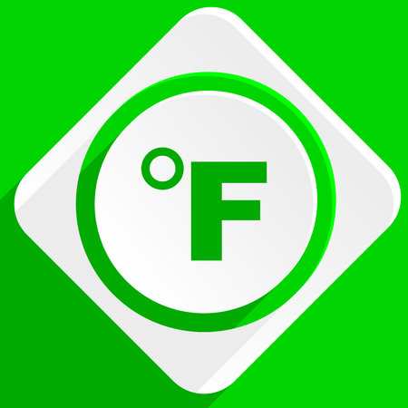 fahrenheit: fahrenheit green flat icon
