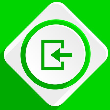 ways to go: enter green flat icon Stock Photo
