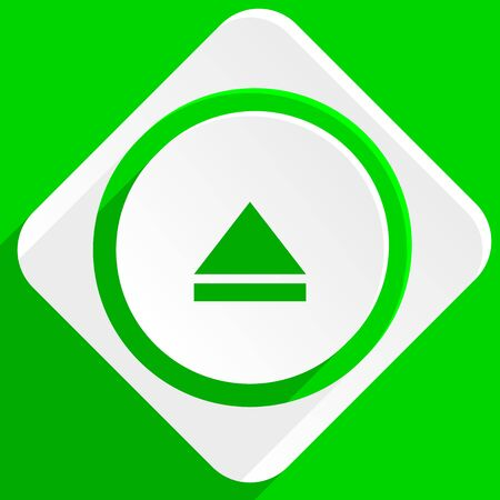 eject: eject green flat icon