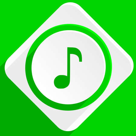 music: music green flat icon