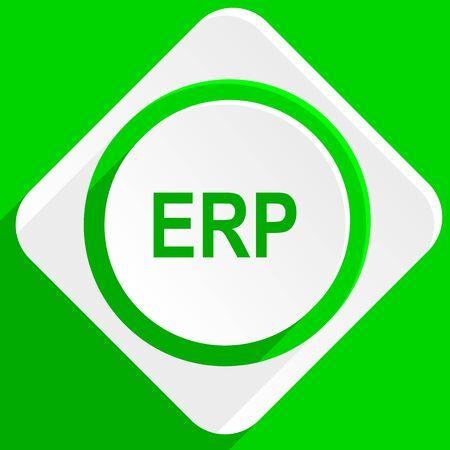 erp: erp green flat icon