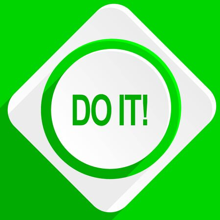 green it: do it green flat icon Stock Photo