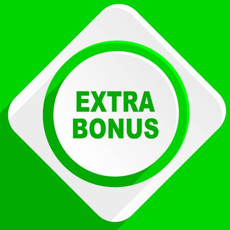 extra: extra bonus green flat icon