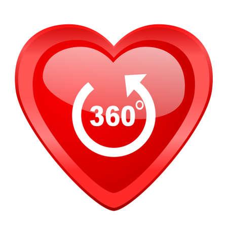 panorama: panorama red heart valentine glossy web icon