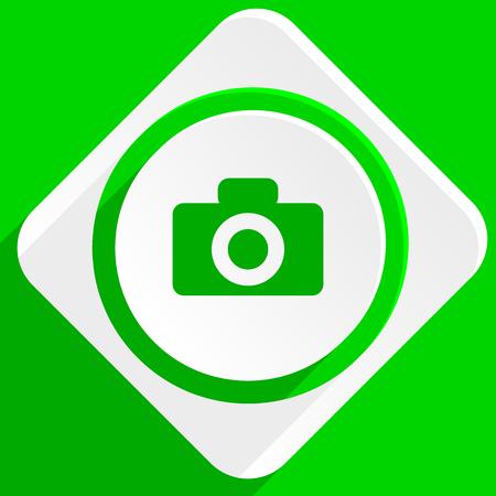 picto: camera green flat icon