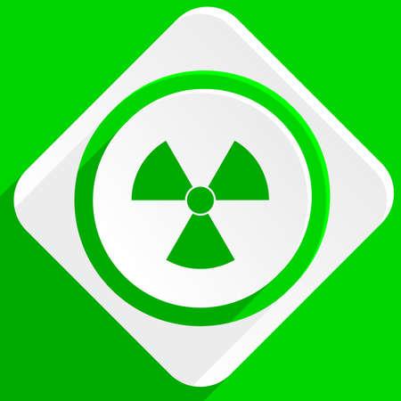 gamma radiation: radiation green flat icon