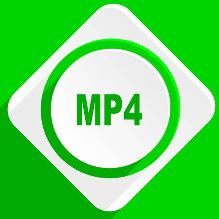 mp4: mp4 green flat icon