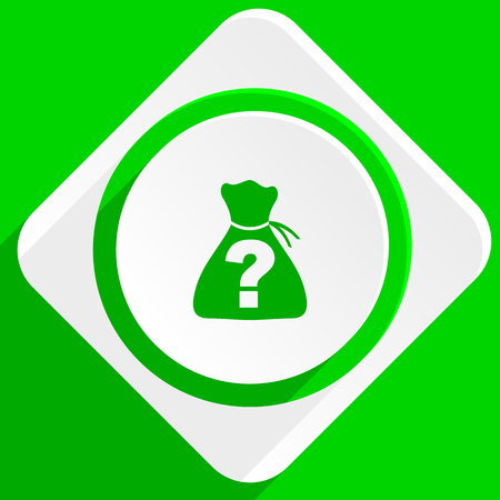 riddle: riddle green flat icon