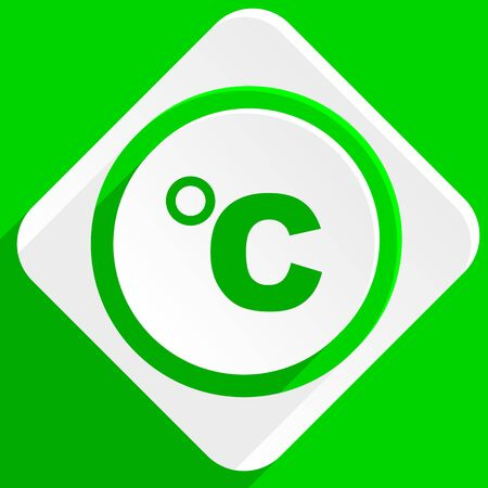 celsius: celsius green flat icon