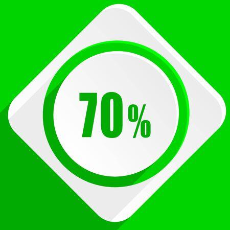 70: 70 percent green flat icon