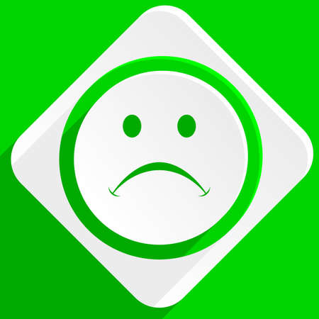 cry: cry green flat icon Stock Photo