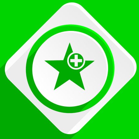 preference: star green flat icon