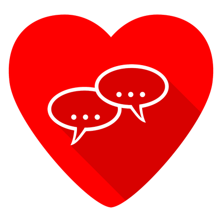 contacting: forum red heart valentine flat icon