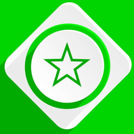 star: star green flat icon