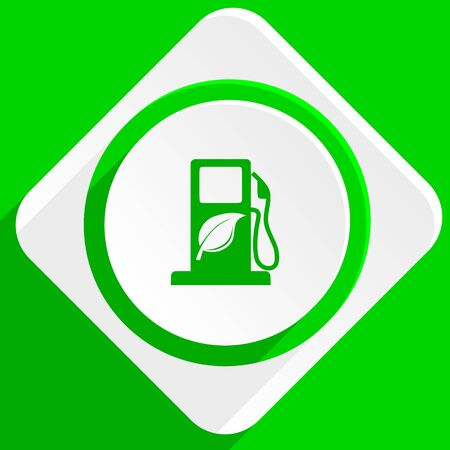 biofuel: biofuel green flat icon Stock Photo