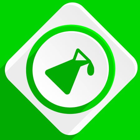 green chemistry: chemistry green flat icon