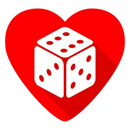 sucess: game red heart valentine flat icon