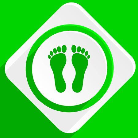 orthopedics: foot green flat icon
