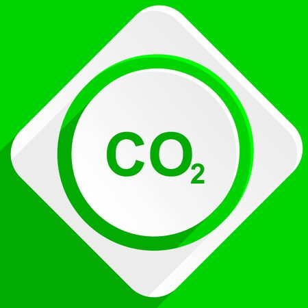 dioxide: carbon dioxide green flat icon