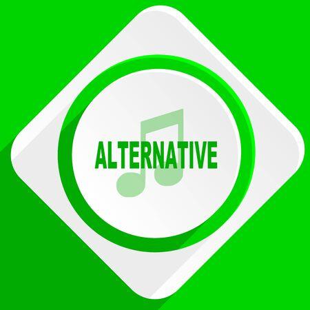 alternative: alternative music green flat icon