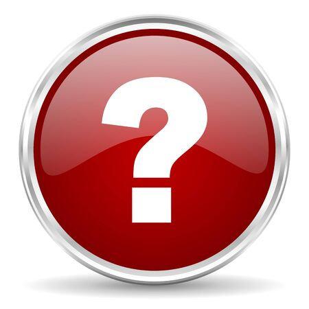 answers: question mark red glossy circle web icon
