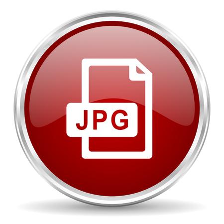 jpg: jpg file red glossy circle web icon