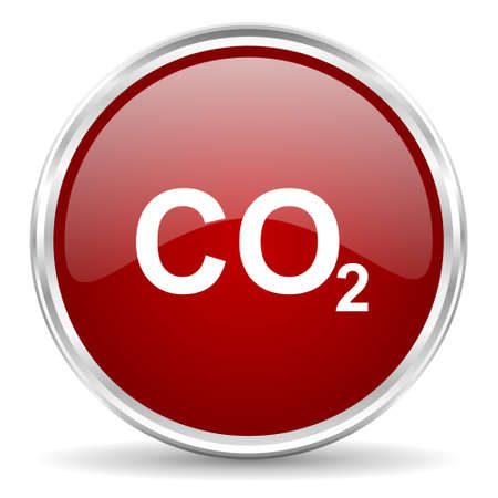 dioxide: carbon dioxide red glossy circle web icon