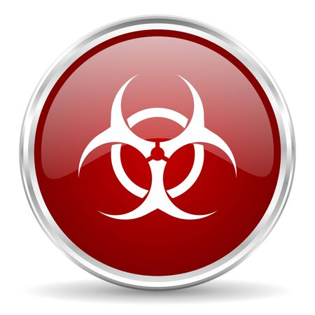 bacterioa: biohazard red glossy circle web icon