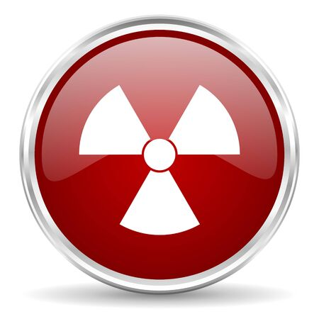 gamma radiation: radiation red glossy circle web icon