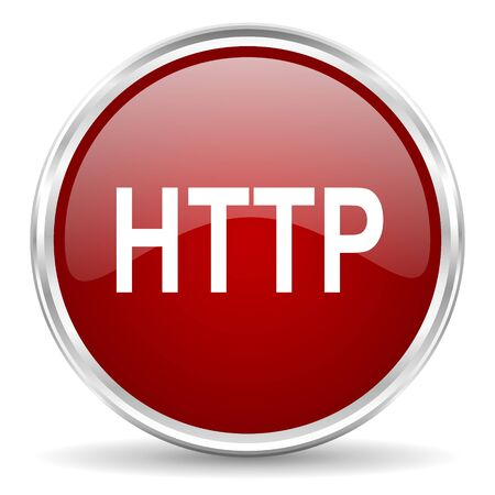 http: http red glossy circle web icon