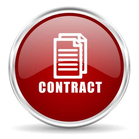 contraction: contract red glossy circle web icon