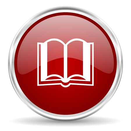 guestbook: book red glossy circle web icon