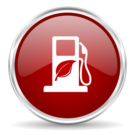 biofuel: biofuel red glossy circle web icon