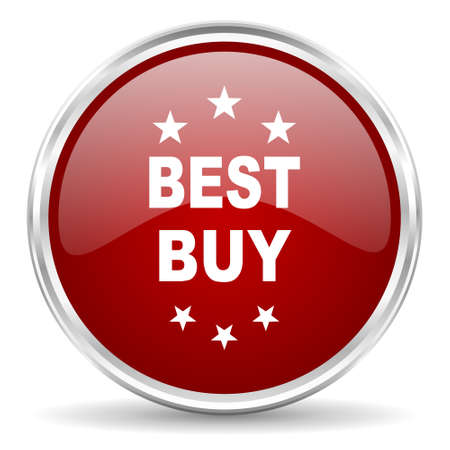 at best: best buy red glossy circle web icon