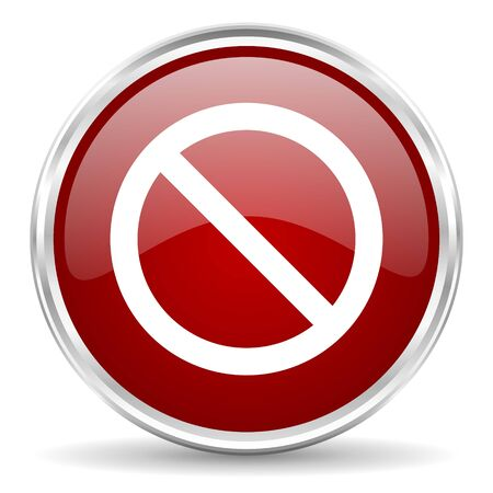 entrance is forbidden: access denied red glossy circle web icon Stock Photo