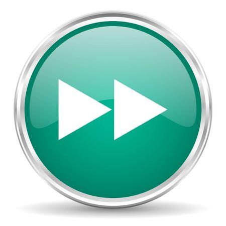 rewind: rewind blue glossy circle web icon