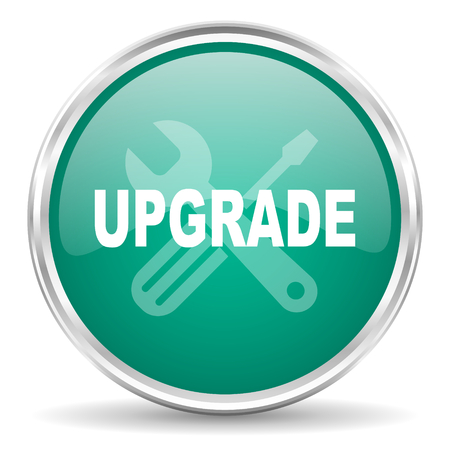upgrade: upgrade blue glossy circle web icon